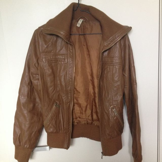 Tan Pleather Jacket