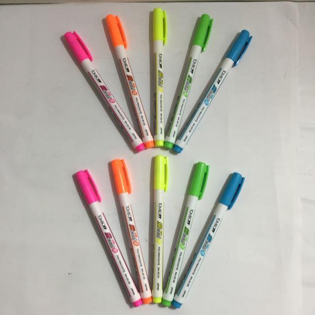 (全新)TOMBO 蜻蜓 螢光暗記筆 WA-SC 粉紅/柑/黃/綠/藍(日本製)總共10支@另有贈品