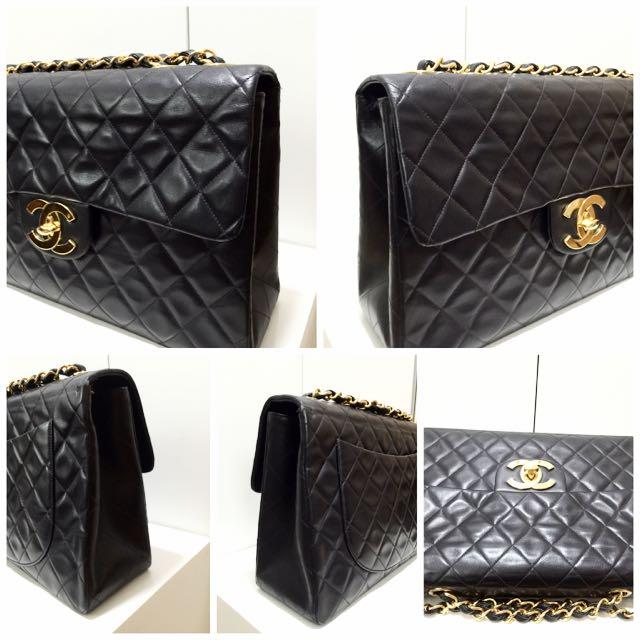 7f9b3afa4d Vintage Chanel Maxi Jumbo XL Flap Bag Black With GHW, Luxury on ...