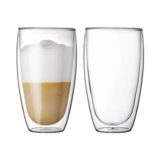In Stock★Double-Wall Thermal Large Glass 450ml★Drinking Glass★Drinking Mug ★Borosilicate glass