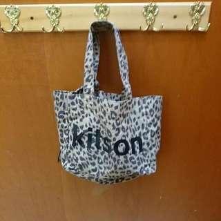 雜誌附錄 kitson 豹紋手提包