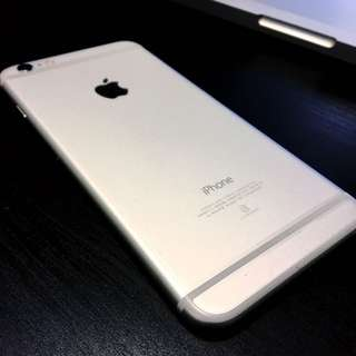 I Phone 6 Plus 銀色 16g 保固到年底