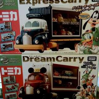 迪士尼 米奇 唐老鴨 貨櫃車 小車