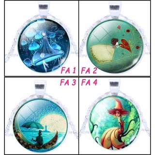 🚚 [In Stocks] Glass Cabochon Necklace - Fantasy Art