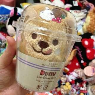 🚚 日本迪士尼 達菲熊 小方巾杯 (現貨 )
