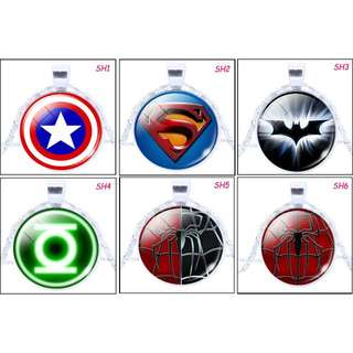 🚚 [In Stocks] Glass Cabochon Necklace - Super Heroes