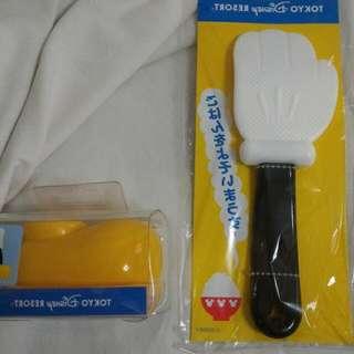 🚚 東京迪士尼 米奇 可愛造型飯匙組