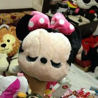 🚚 東京迪士尼 米妮 瞇瞇眼 大頭娃娃