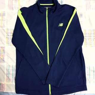 New Balance 深藍螢光條紋薄運動外套