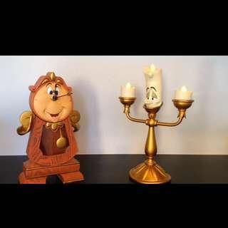 加州迪士尼 美女與野獸  高質感 時鐘 蠟燭 管家