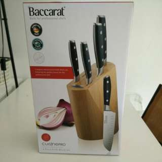 Brand New 5pc Baccarat Knife Set