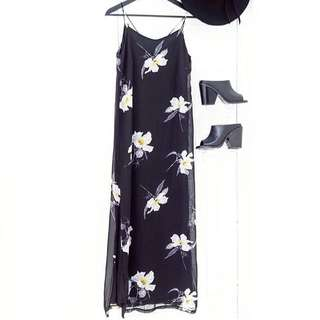 Floral Strappy Back Maxi