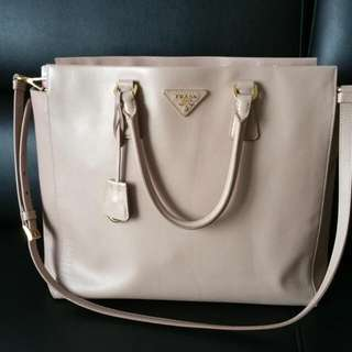 preloved prada saffiano lux shopping bag