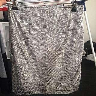 Forever 21 - Metallic Silver Skirt