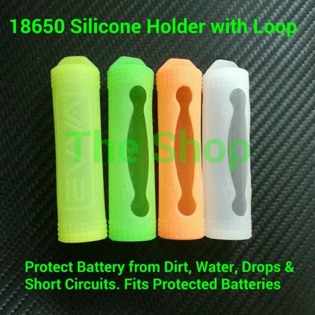 18650 Unprotected and Protected Silicone Cell Holder
