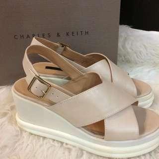 Charles & Keith Platform Sandals Size 37