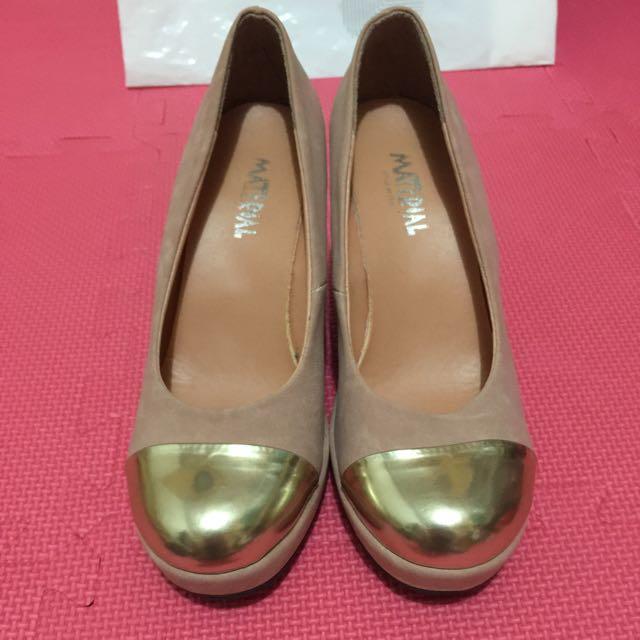 (免運)22.5 粉色 楔型鞋