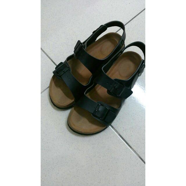 黑色波肯涼鞋39 (38可)