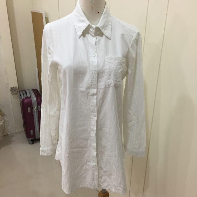厚款棉麻襯衫