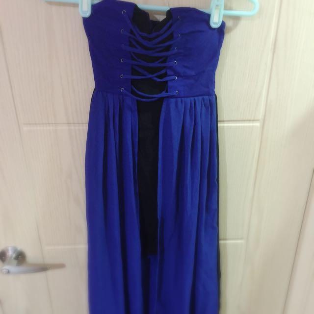 隱藏式深藍緊身裙
