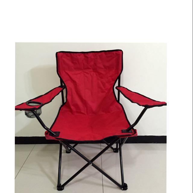 輕量時尚戶外休閒椅(紅色)