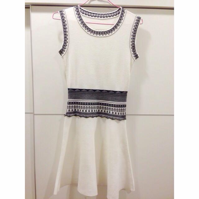 韓版 無袖針織修身洋裝