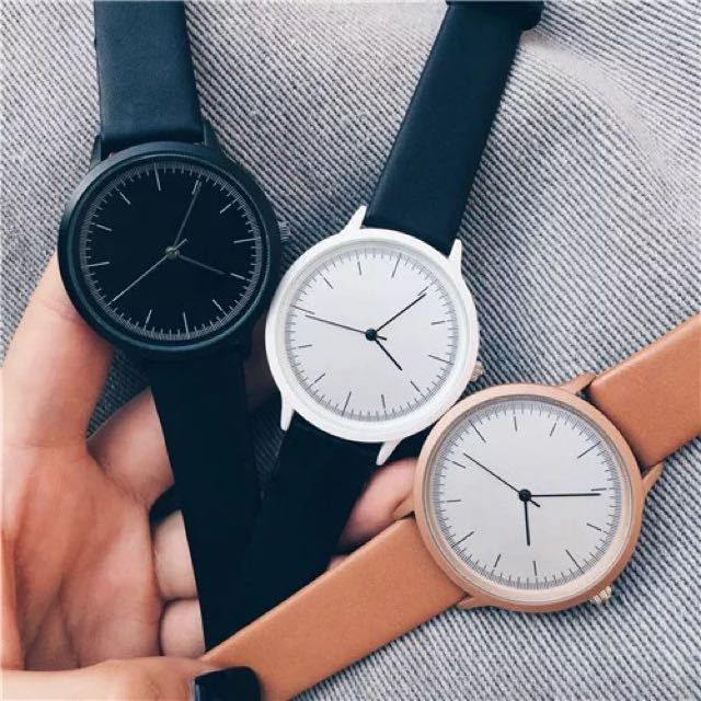 極簡無印風 大錶面手錶 共3色