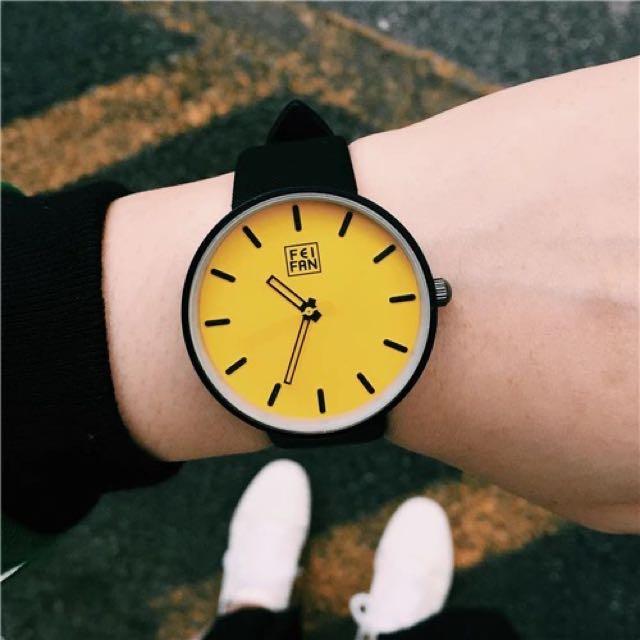 極簡約百搭款 大錶面 手錶 共6色