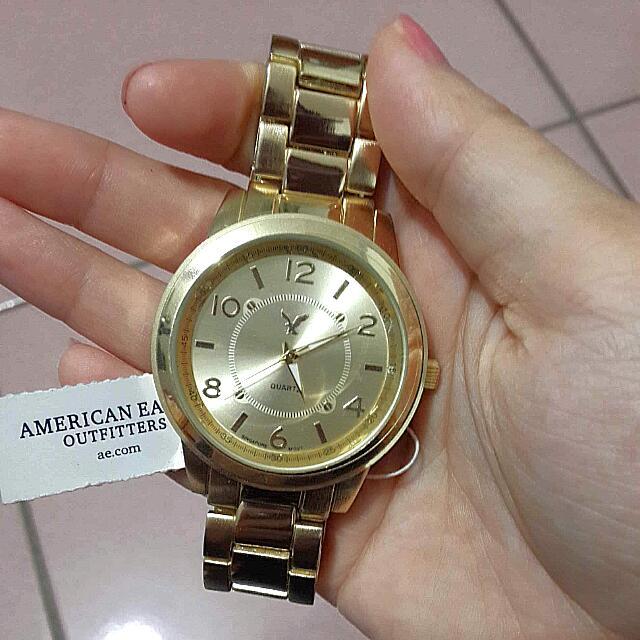 American Eagle 金色 手錶 老鷹牌 <被惡意棄標,商品還在喔>《保留中》