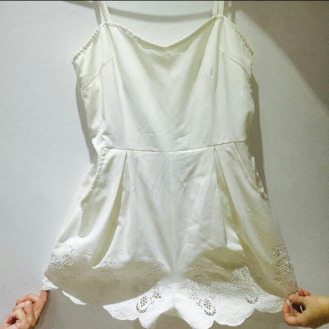 *REDUCED* BN White Crochet Romper / Playsuit