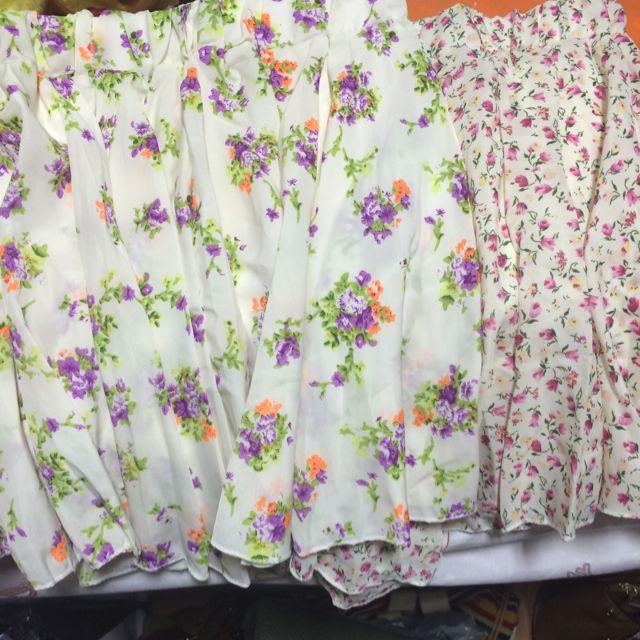 Floral Skater Skirt (with Belt)
