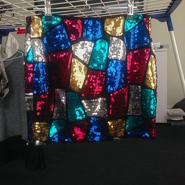 Forever 21 - Colourful Sequinned Skirt