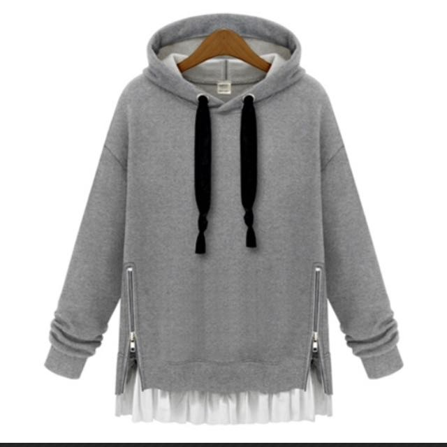 Grey Hooded Jumper
