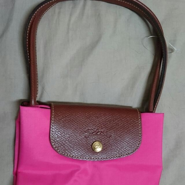 Longchamp正品長袋S經典折疊包(芭比粉)