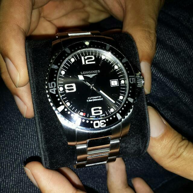 ea23d63a49e Longines Hydroconquest 41mm Automatic Black Dive Watch