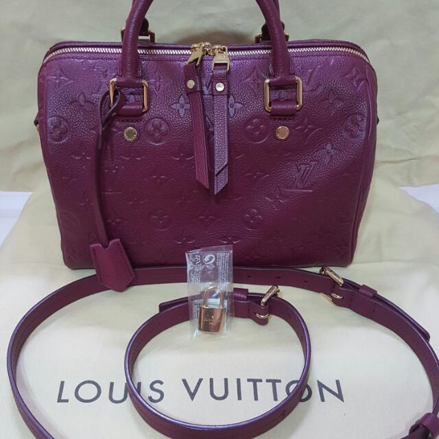 8e8042c9f303 New Authentic Louis Vuitton Speedy 25 Monogram Leather Bag in Aurore ...