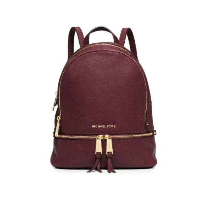 9138bb08ddac MICHAEL Michael Kors Rhea Zip Small Backpack (Merlot, Black ...