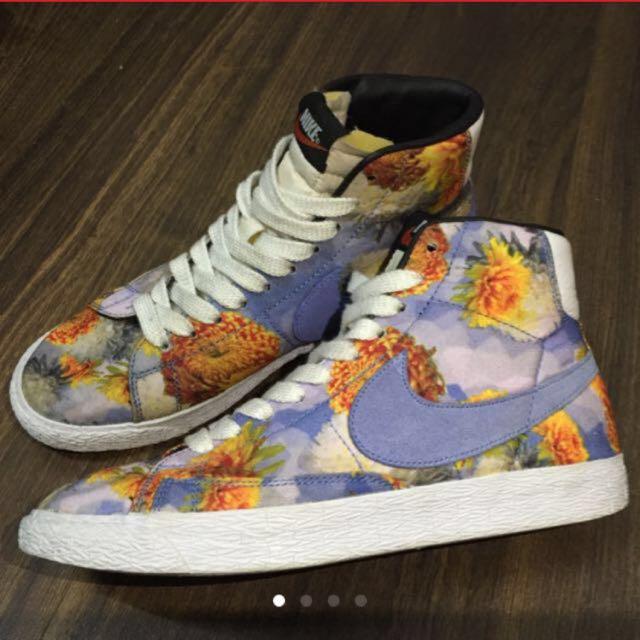 Nike Blazer MID限量花卉鞋 保證正品