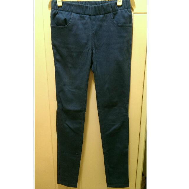 OB嚴選緊身褲-藍色✨