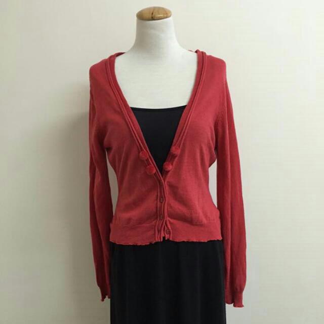 sandwich紅色針織外套