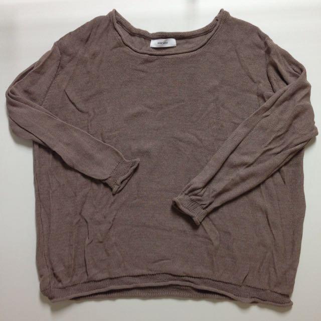 ✨STARMIMI可可色針織衫✨