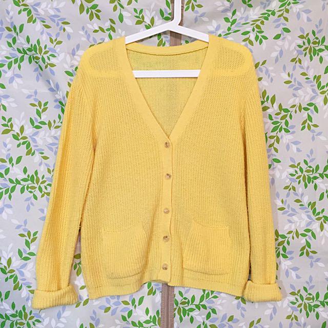Stylenanda 亮黃針織外套
