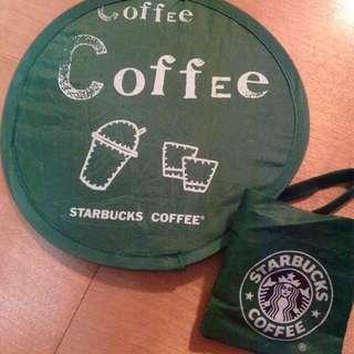 Starbucks舊款logo造型可折疊圓扇