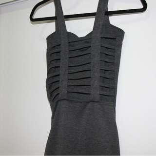 Backless Grey dress size 6-10