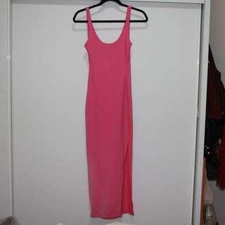 Bodycon bright pink Kookai dress size (1) 6-10 Retail $130.00