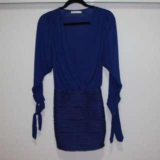 Blue long sleeve dress size 6-8