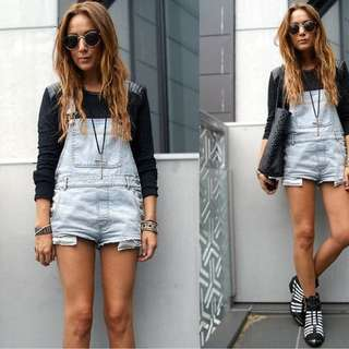 Sportsgirl Light Denim Overalls