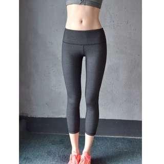 超大彈性翹臀緊身運動健身拉鏈七分褲-代購款