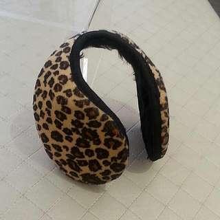 豹紋 耳罩