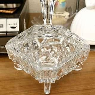 佛羅倫斯帶回 水晶玻玻璃首飾首 床頭擱戒指項錬(正方角弧)